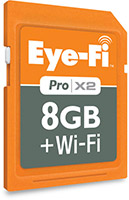 Eye-Fi Pro X2 8GB Wi-Fi card